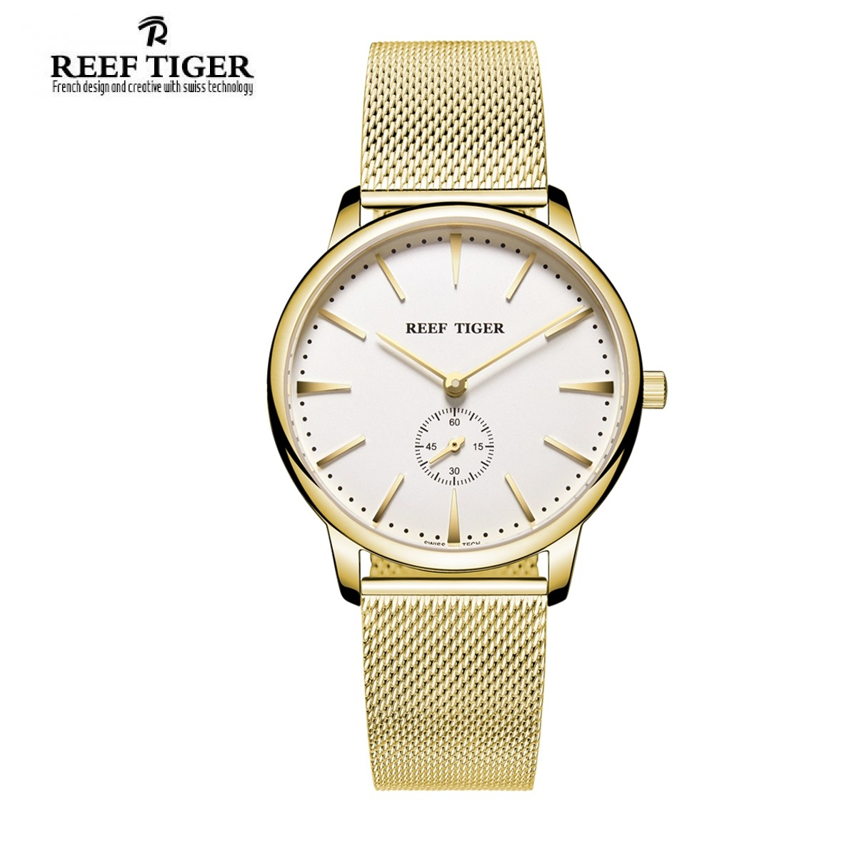 Classic Vintage 40mm Yellow Gold RGA820-MGWG