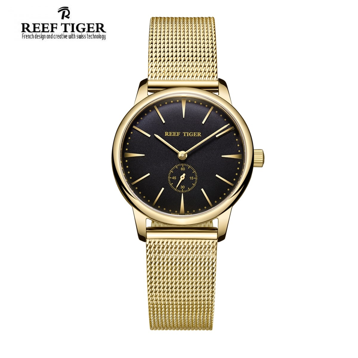Classic Vintage 32mm Yellow Gold RGA820-WGBG