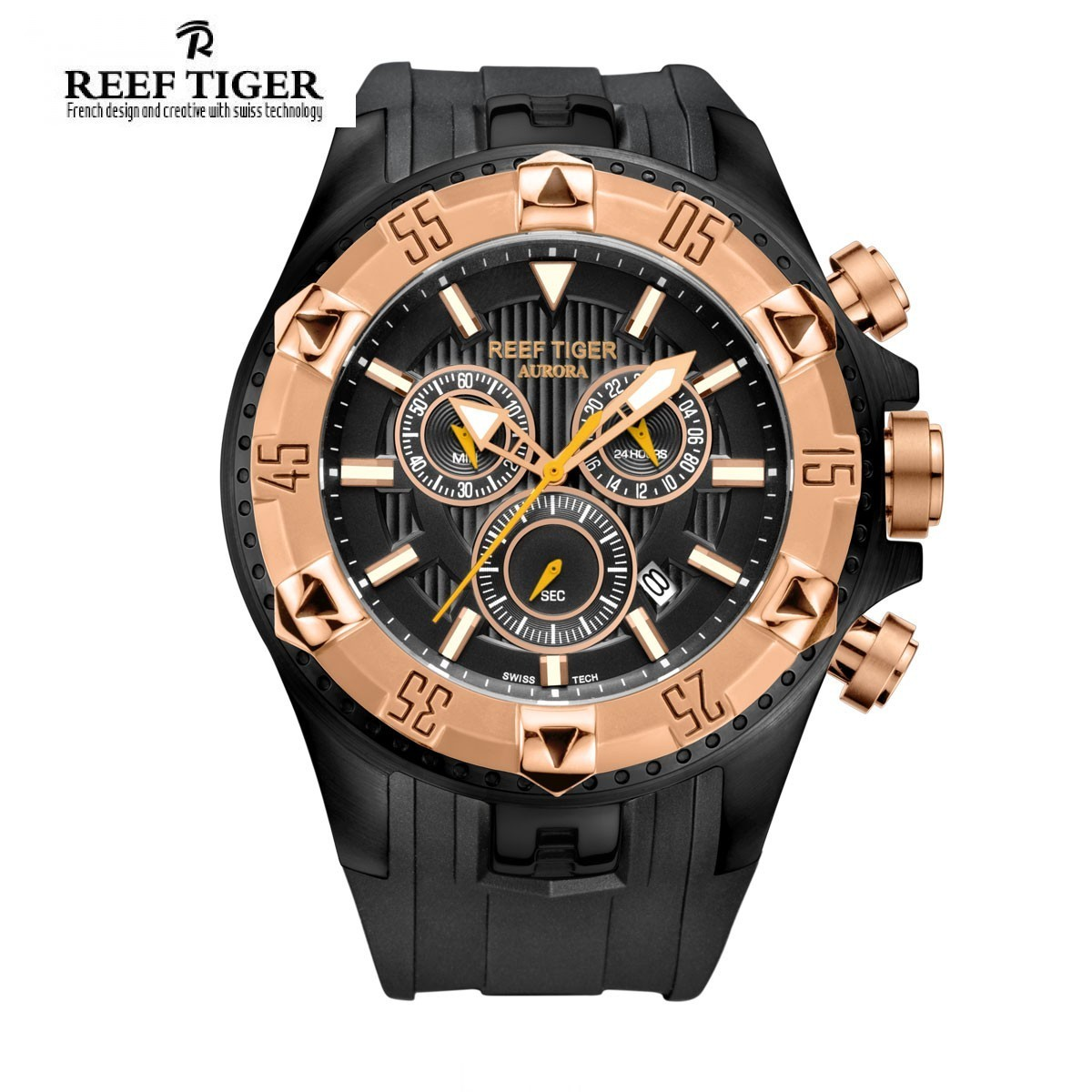 Aurora Hercules 52mm Steel Rose Gold RGA303-PBB