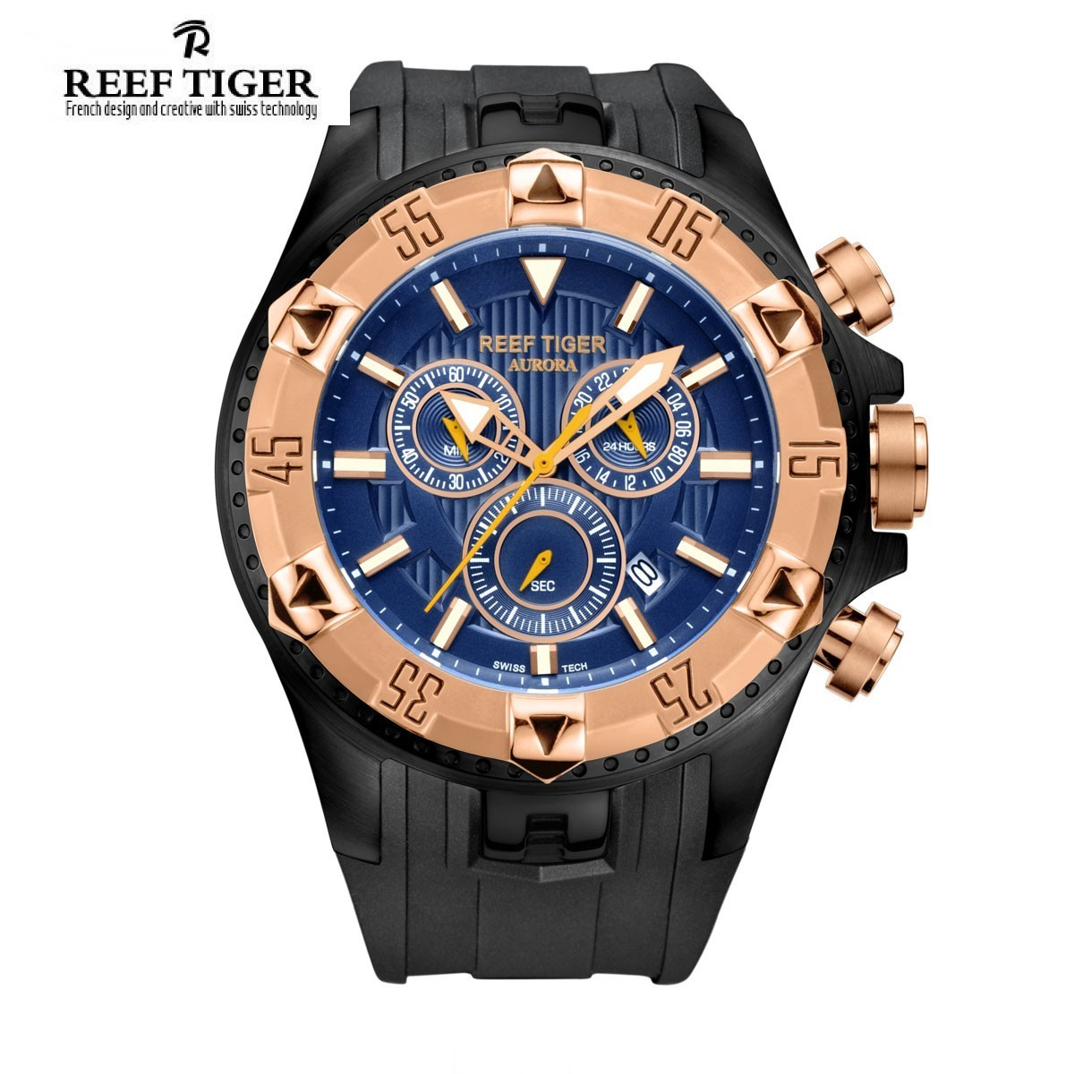 Aurora Hercules 52mm Steel Rose Gold RGA303-PLB