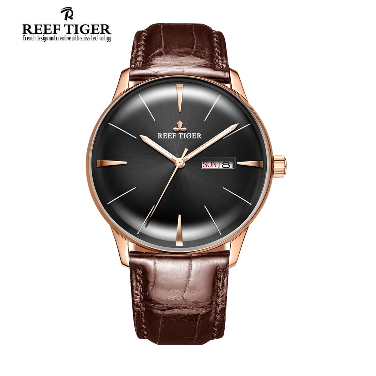 Classic Heritor 40mm Rose Gold RGA8238-PBB