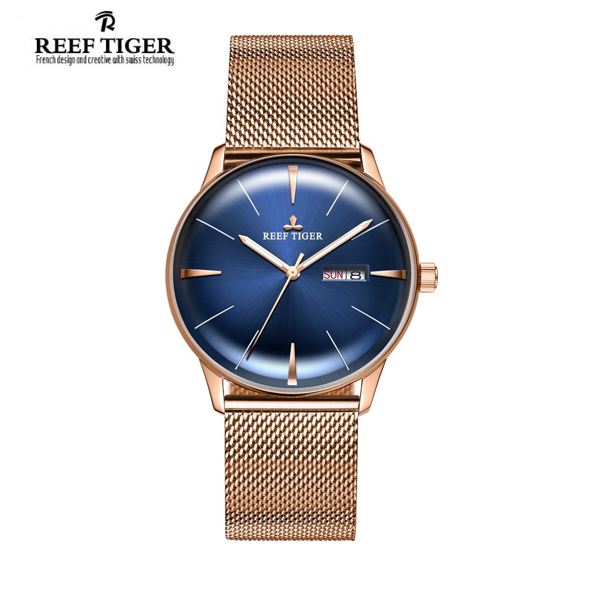Classic Heritor 40mm Rose Gold RGA8238-PLP