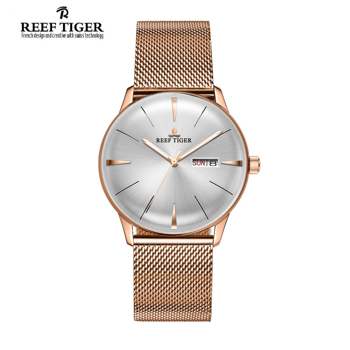 Classic Heritor 40mm Rose Gold RGA8238-PWP