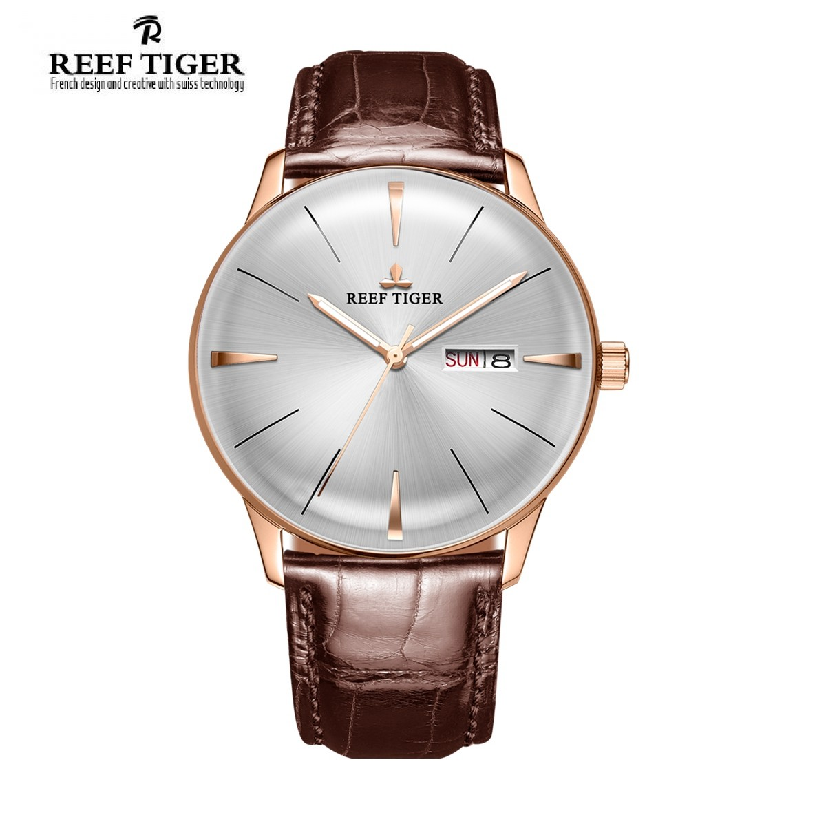 Classic Heritor 40mm Rose Gold RGA8238-PWB
