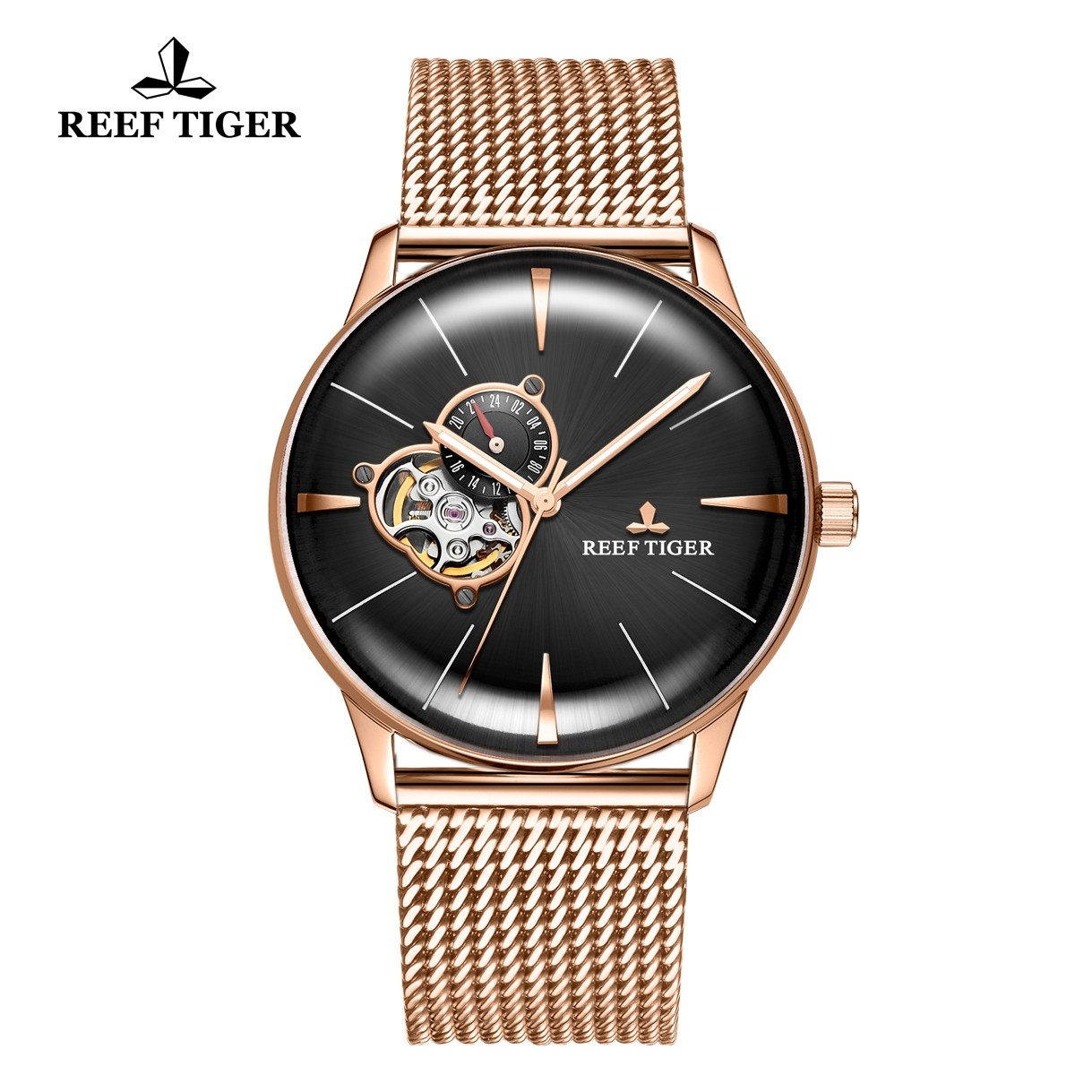 Classic Glory 40mm Rose Gold Black Dial RGA8239-PBP