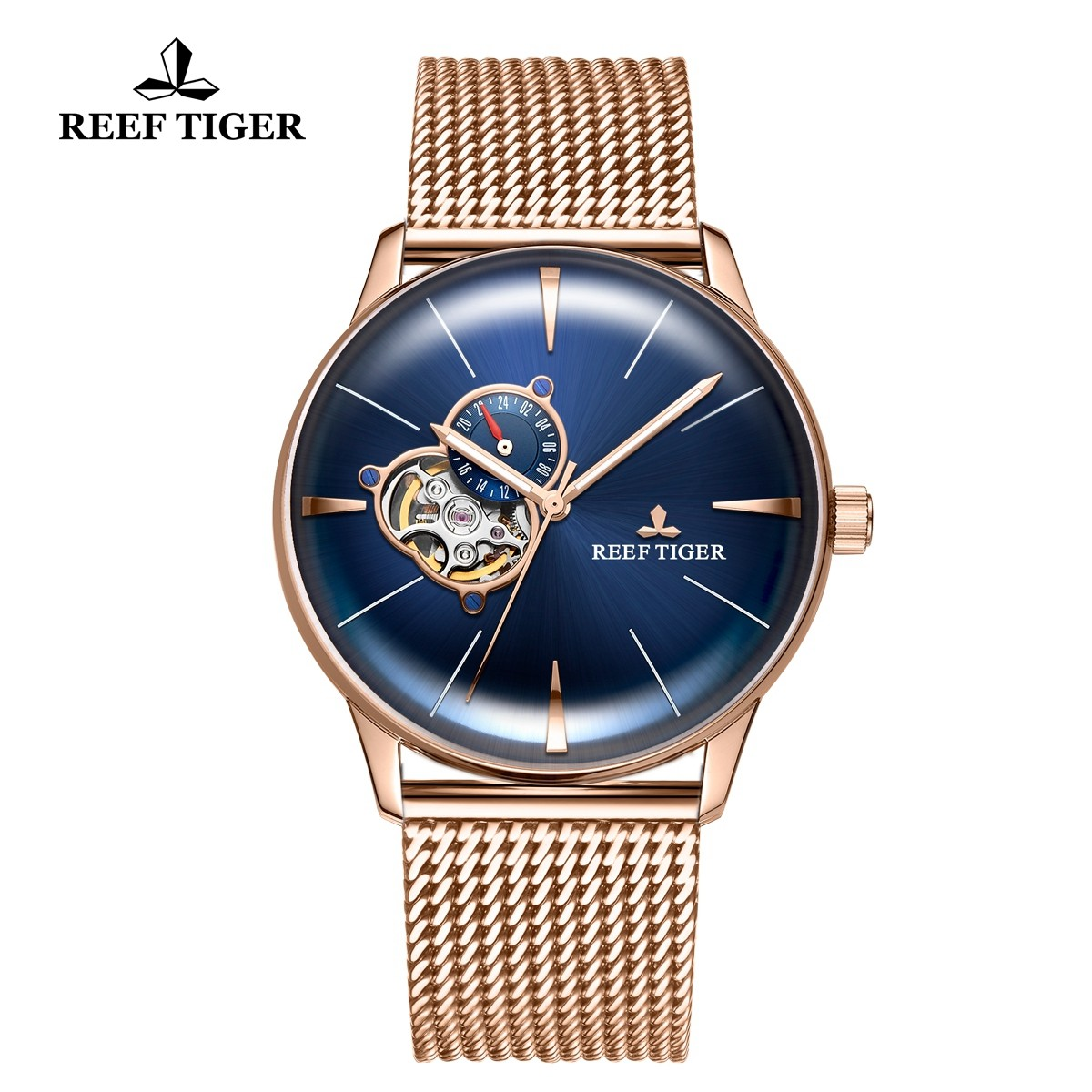 Classic Glory 40mm Rose Gold Blue Dial RGA8239-PLP