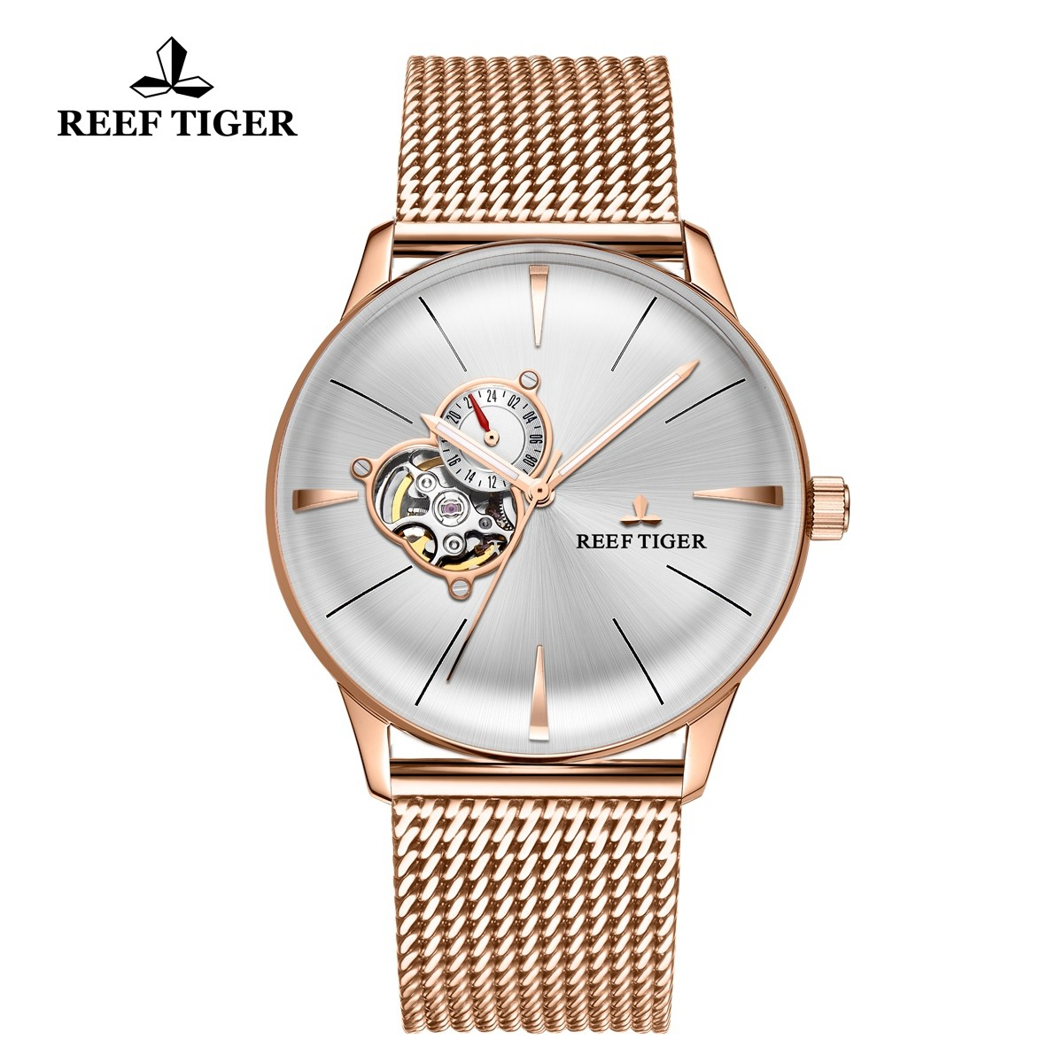 Classic Glory 40mm Rose Gold White Dial RGA8239-PWP