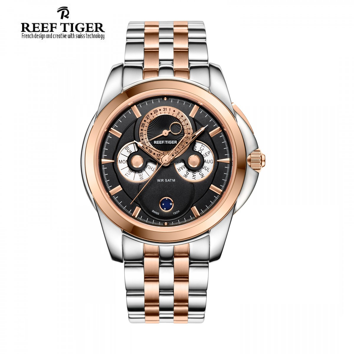 Classic Time-Matic 44mm Rose Gold Steel RGA830-PBT