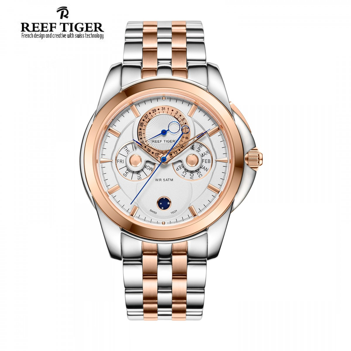 Classic Time-Matic 44mm Rose Gold Steel RGA830-PWT